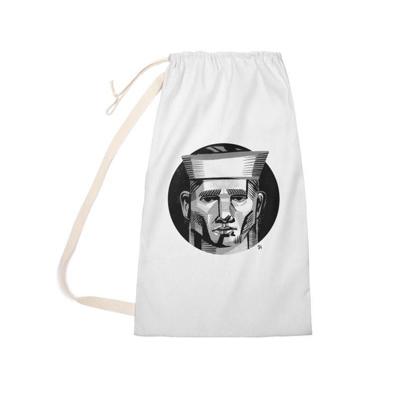 Sailor in the Wild (night version) Accessories Laundry Bag Bag by Michael J Hildebrand's Artist Shop