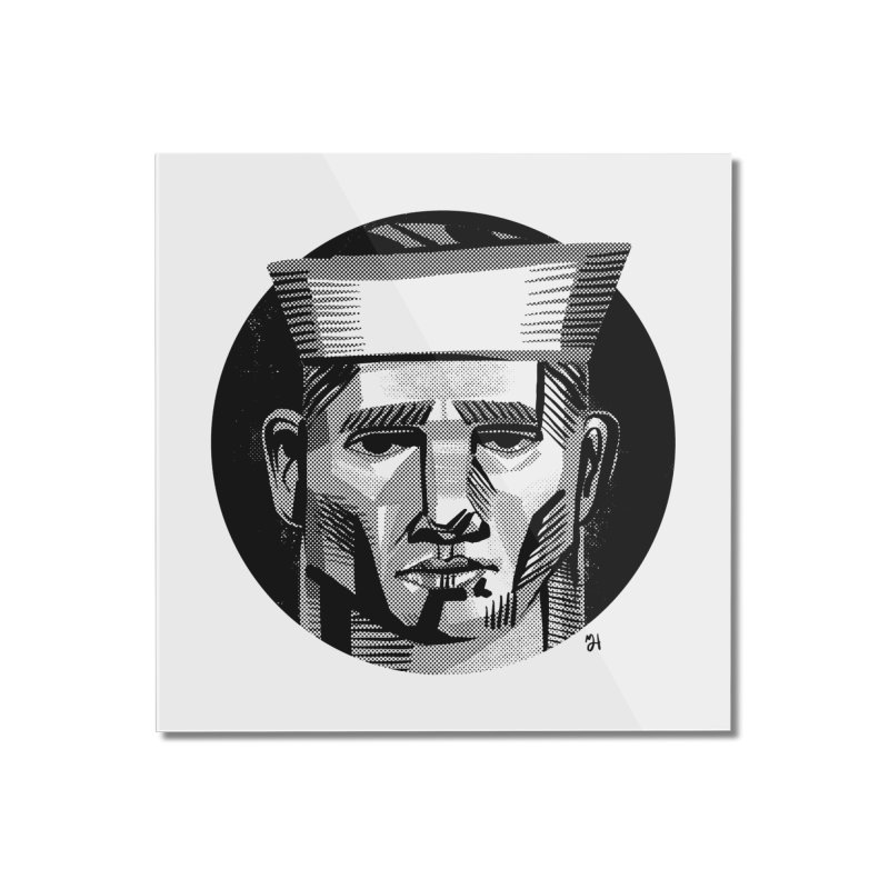 Sailor in the Wild (night version) Home Mounted Acrylic Print by michaeljhildebrand's Artist Shop