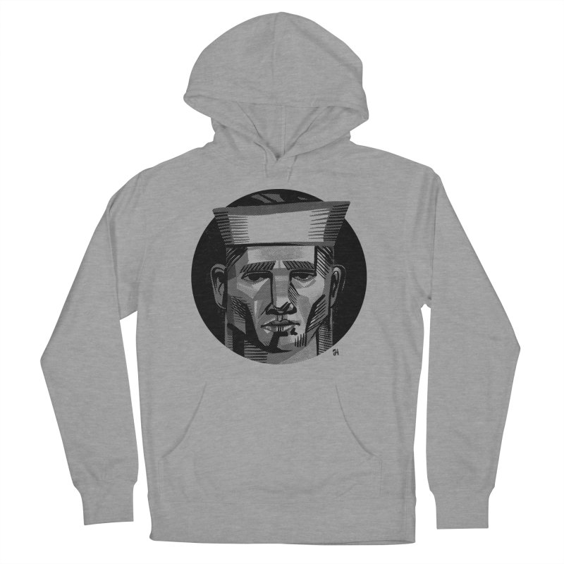 Sailor in the Wild (night version) Men's French Terry Pullover Hoody by michaeljhildebrand's Artist Shop