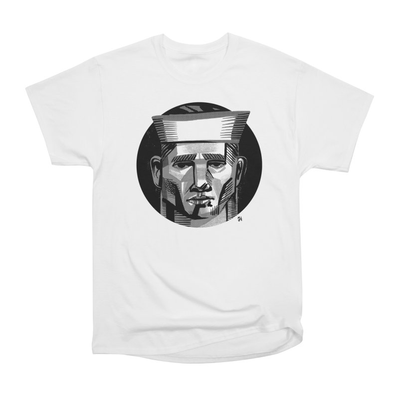 Sailor in the Wild (night version) Men's Heavyweight T-Shirt by michaeljhildebrand's Artist Shop