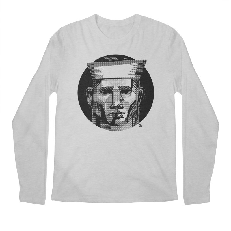 Sailor in the Wild (night version) Men's Regular Longsleeve T-Shirt by michaeljhildebrand's Artist Shop