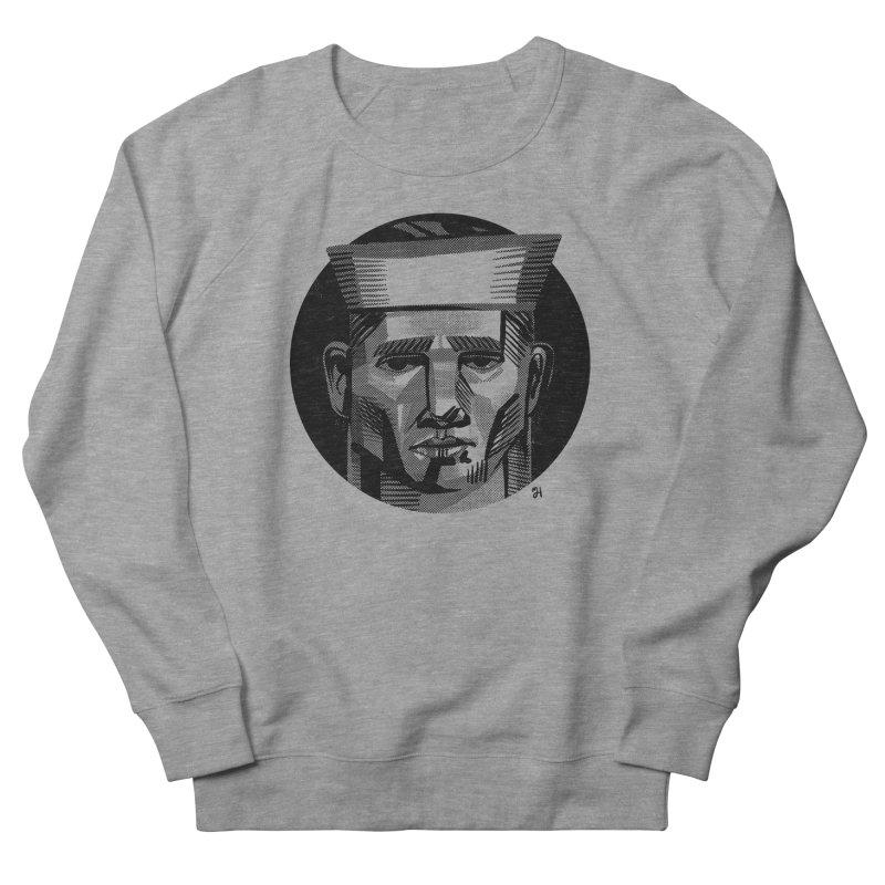 Sailor in the Wild (night version) Men's French Terry Sweatshirt by michaeljhildebrand's Artist Shop