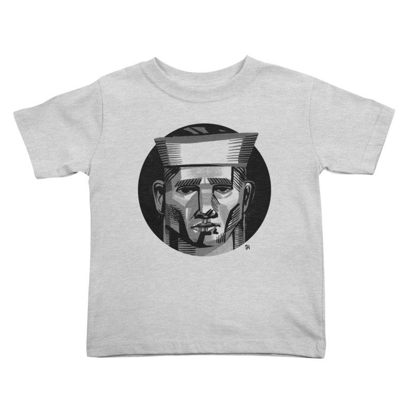 Sailor in the Wild (night version) Kids Toddler T-Shirt by michaeljhildebrand's Artist Shop