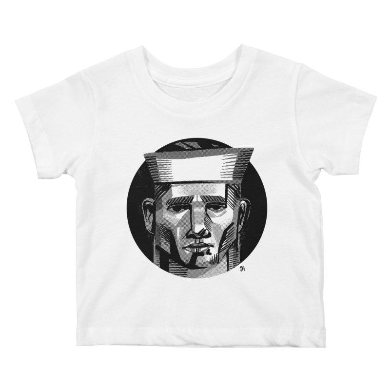 Sailor in the Wild (night version) Kids Baby T-Shirt by michaeljhildebrand's Artist Shop