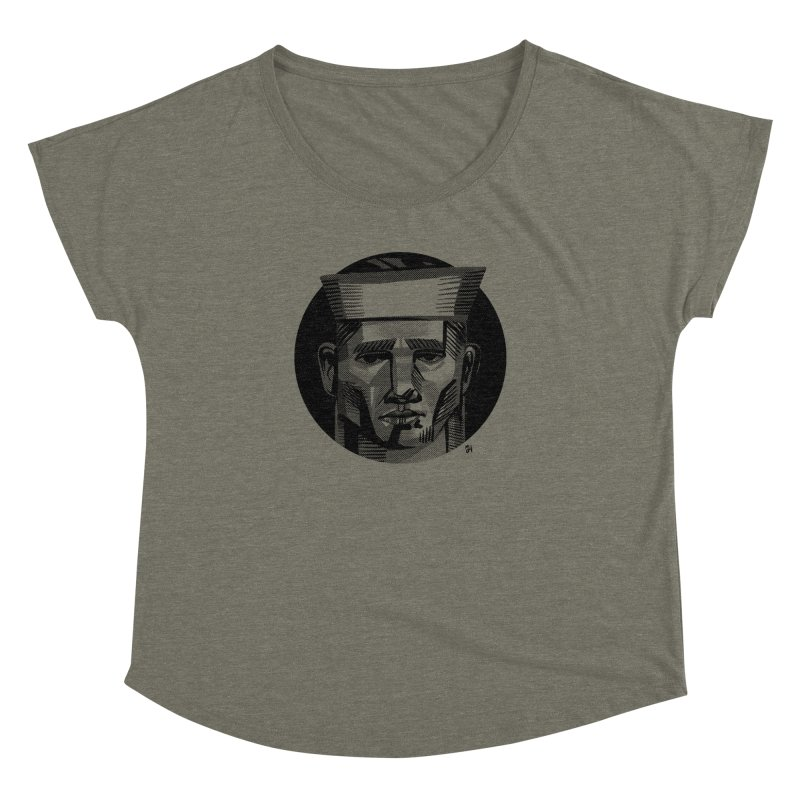 Sailor in the Wild (night version) Women's Dolman Scoop Neck by Michael J Hildebrand's Artist Shop