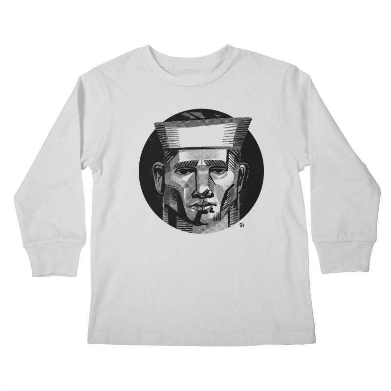 Sailor in the Wild (night version) Kids Longsleeve T-Shirt by michaeljhildebrand's Artist Shop