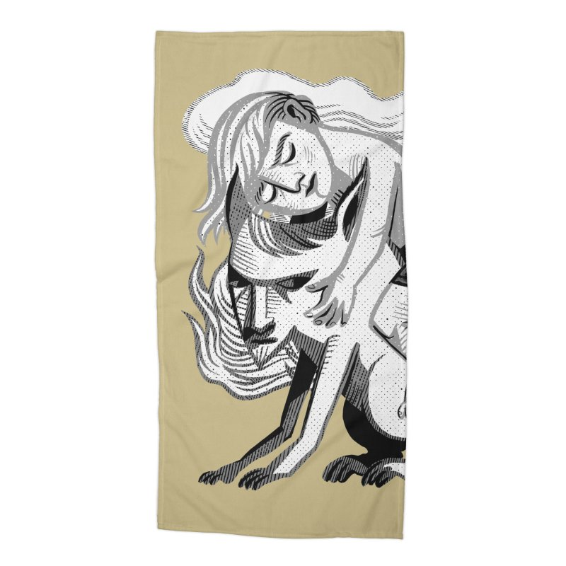 Hug Accessories Beach Towel by Michael J Hildebrand's Artist Shop