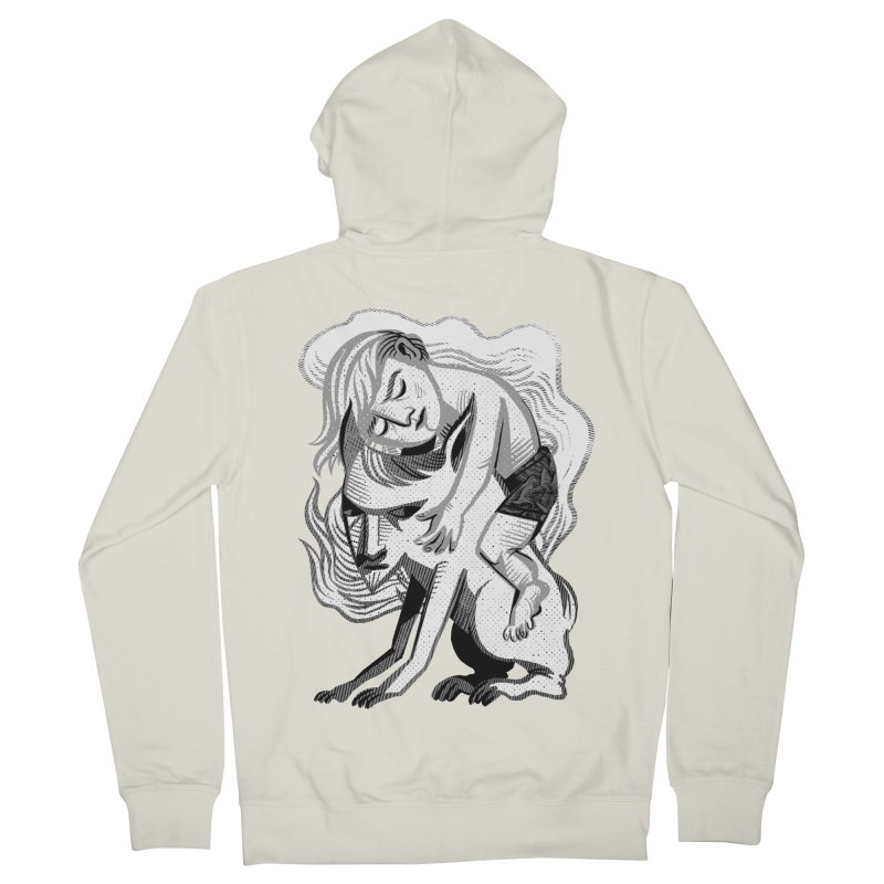 Hug Women's French Terry Zip-Up Hoody by Michael J Hildebrand's Artist Shop