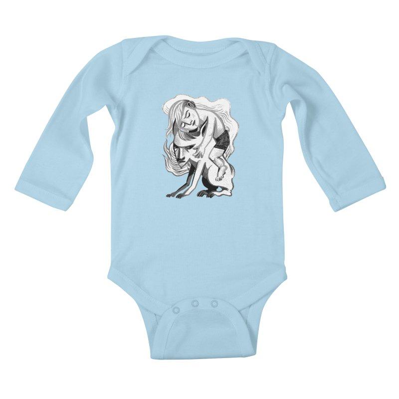 Hug Kids Baby Longsleeve Bodysuit by Michael J Hildebrand's Artist Shop