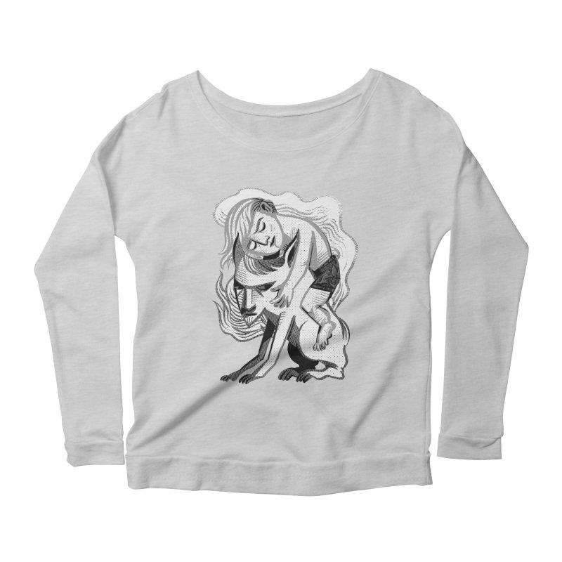 Hug Women's Longsleeve Scoopneck  by michaeljhildebrand's Artist Shop
