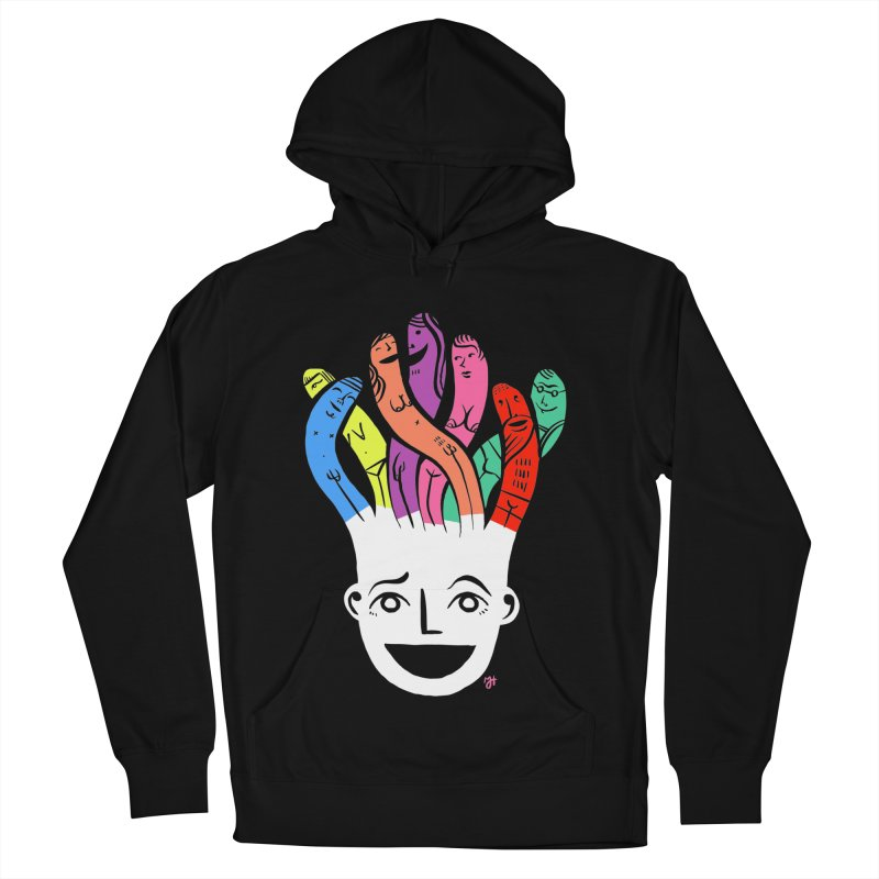 """DrawingPride No.1 """"Community"""" Men's French Terry Pullover Hoody by Michael J Hildebrand's Artist Shop"""