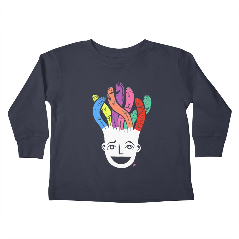 "DrawingPride No.1 ""Community"" Kids Toddler Longsleeve T-Shirt by Michael J Hildebrand's Artist Shop"