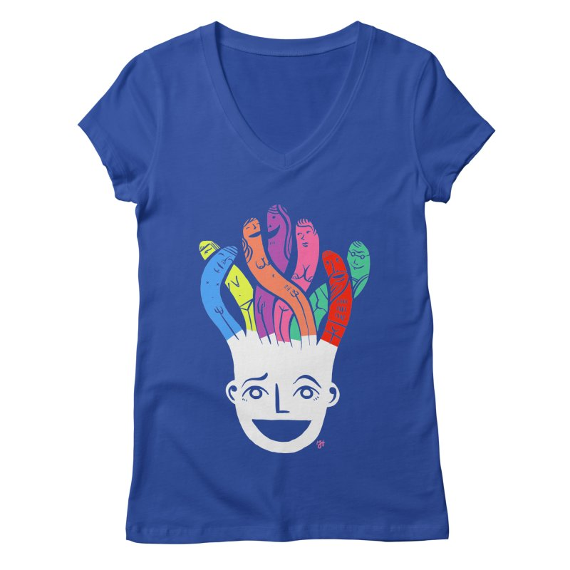 "DrawingPride No.1 ""Community"" Women's Regular V-Neck by Michael J Hildebrand's Artist Shop"