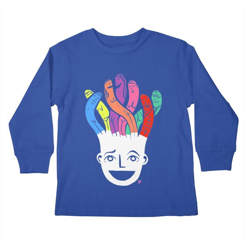 "DrawingPride No.1 ""Community"" Kids Longsleeve T-Shirt by Michael J Hildebrand's Artist Shop"