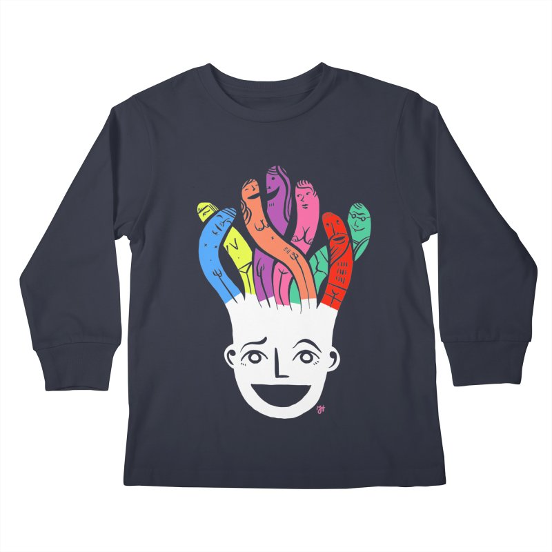 "DrawingPride No.1 ""Community"" Kids Longsleeve T-Shirt by michaeljhildebrand's Artist Shop"