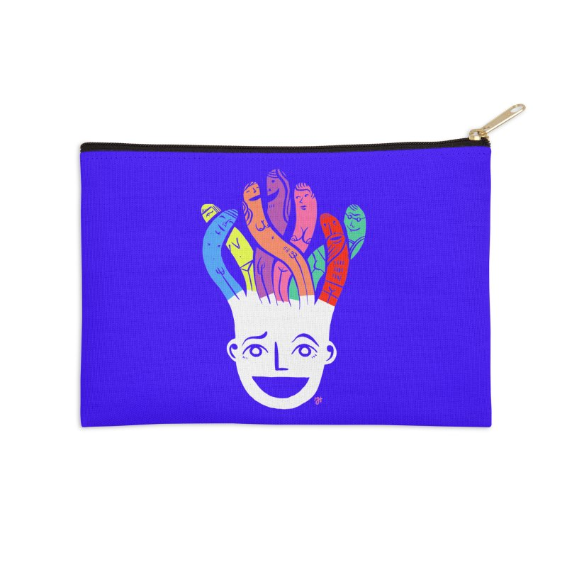"DrawingPride No.1 ""Community"" Accessories Zip Pouch by Michael J Hildebrand's Artist Shop"