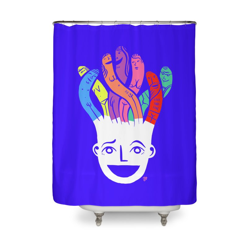 "DrawingPride No.1 ""Community"" Home Shower Curtain by michaeljhildebrand's Artist Shop"