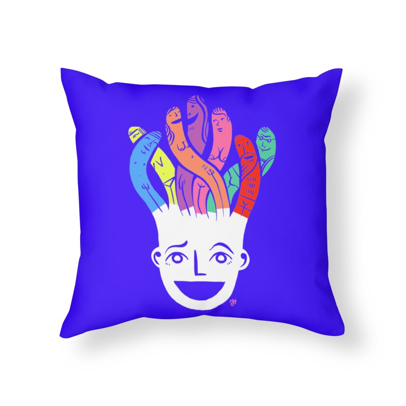 """DrawingPride No.1 """"Community"""" Home Throw Pillow by Michael J Hildebrand's Artist Shop"""