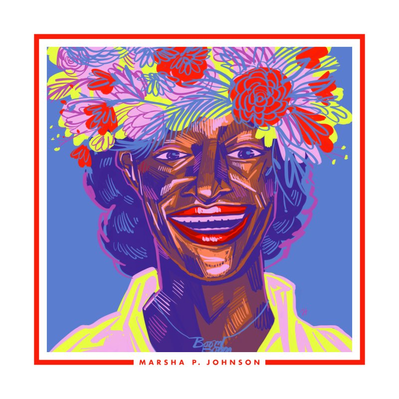 DrawingPride No.6: Marsha P. Johnson   by michaeljhildebrand's Artist Shop