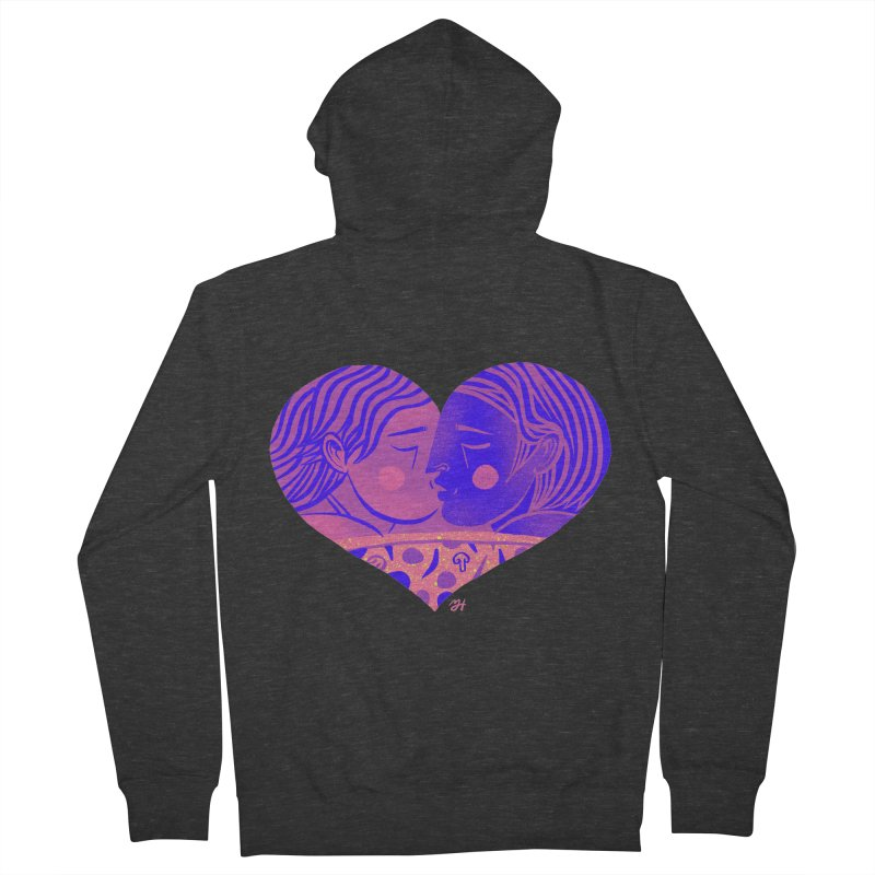 DrawingPride No.7: Love Women's French Terry Zip-Up Hoody by Michael J Hildebrand's Artist Shop