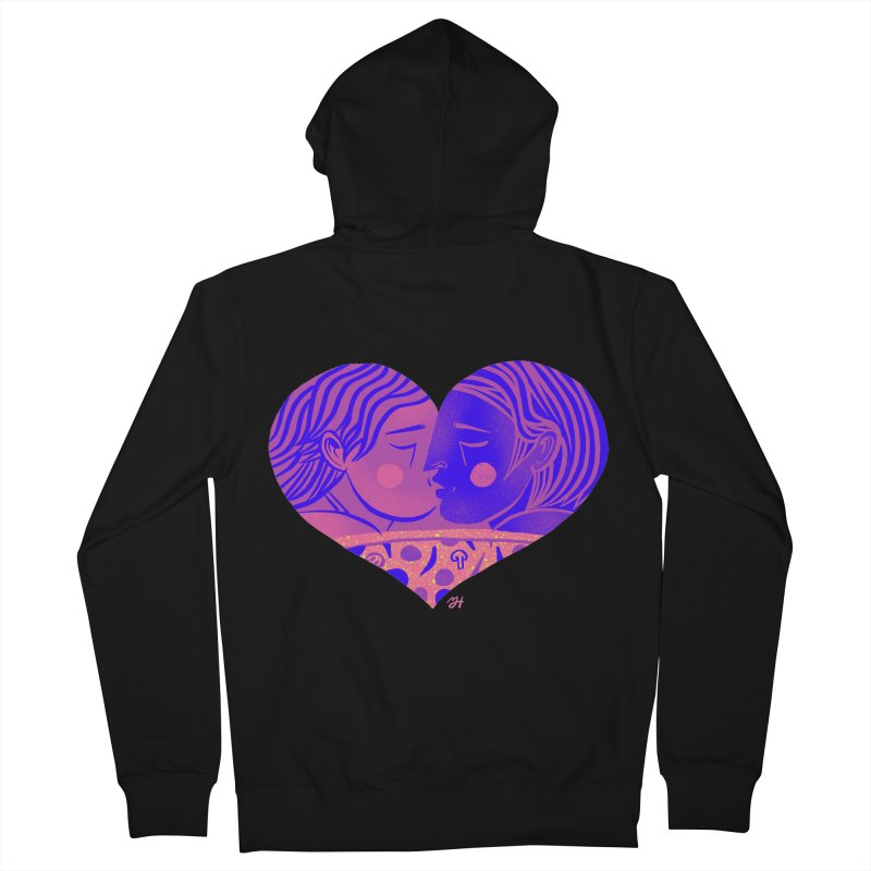 DrawingPride No.7: Love Men's French Terry Zip-Up Hoody by Michael J Hildebrand's Artist Shop