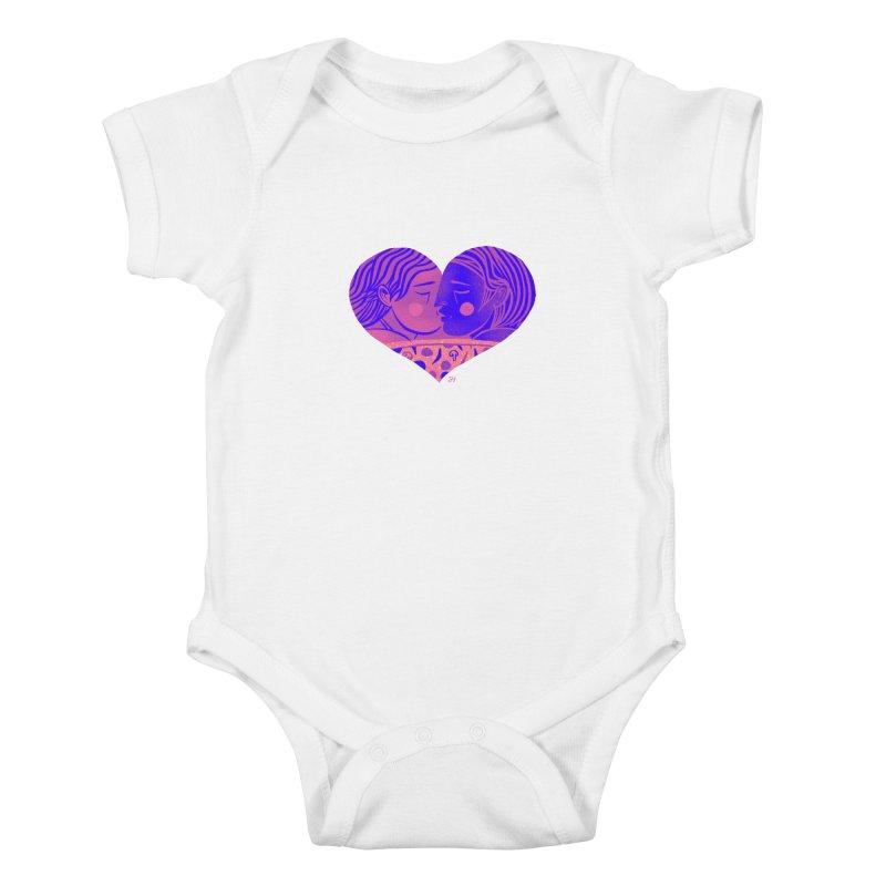 DrawingPride No.7: Love Kids Baby Bodysuit by Michael J Hildebrand's Artist Shop