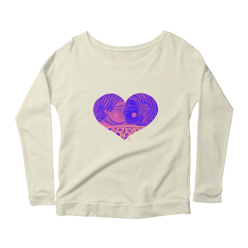 DrawingPride No.7: Love Women's Scoop Neck Longsleeve T-Shirt by Michael J Hildebrand's Artist Shop