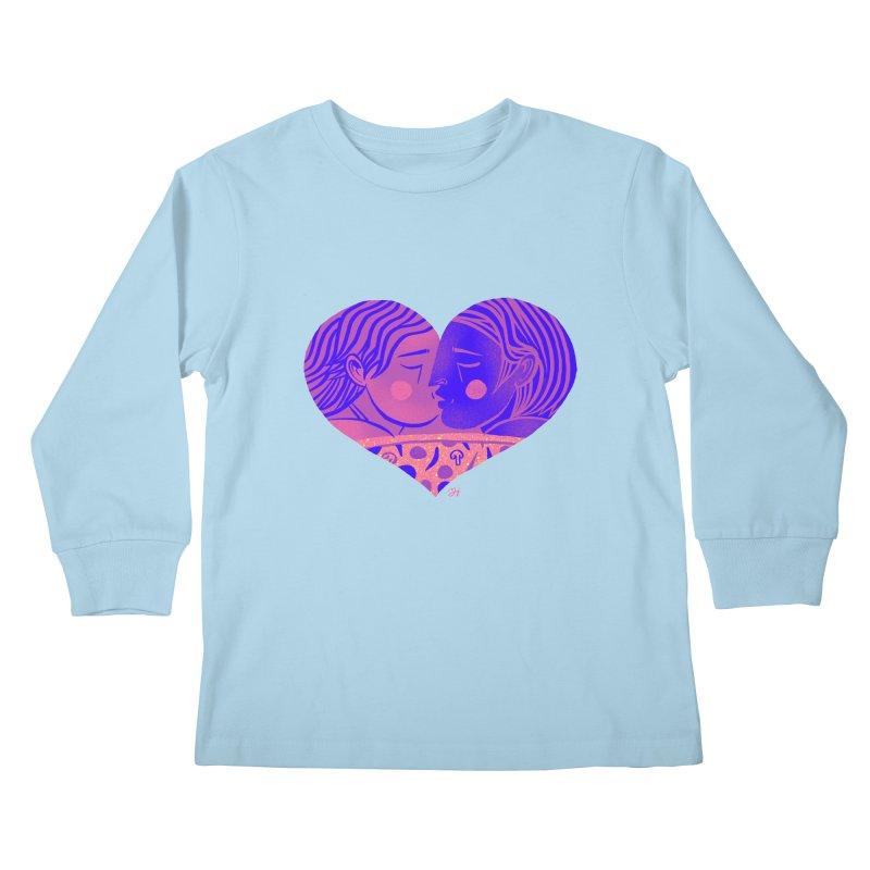 DrawingPride No.7: Love Kids Longsleeve T-Shirt by Michael J Hildebrand's Artist Shop
