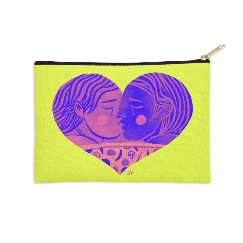 DrawingPride No.7: Love Accessories Zip Pouch by Michael J Hildebrand's Artist Shop