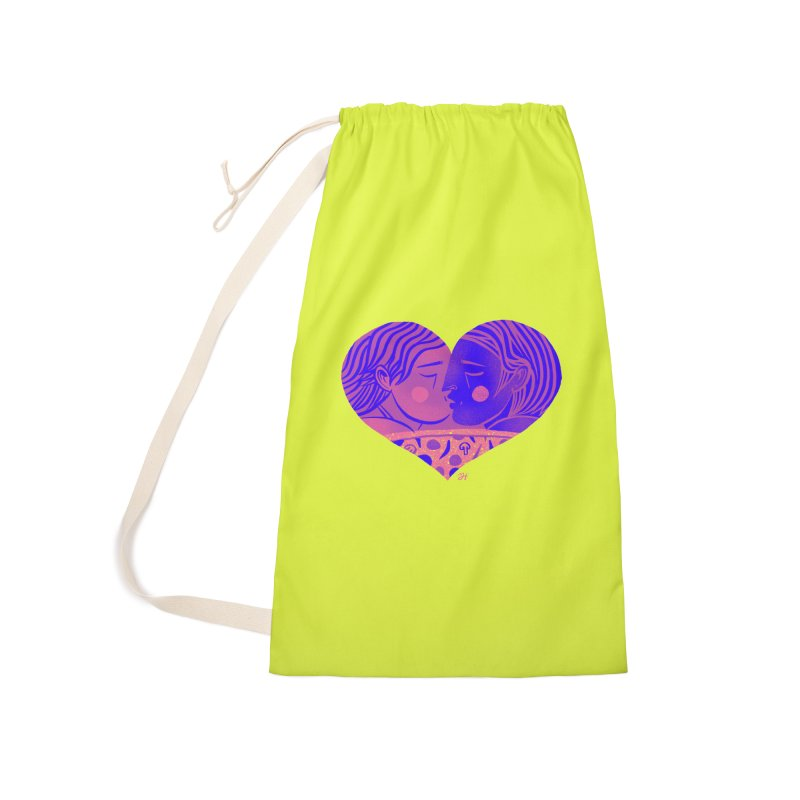 DrawingPride No.7: Love Accessories Laundry Bag Bag by Michael J Hildebrand's Artist Shop