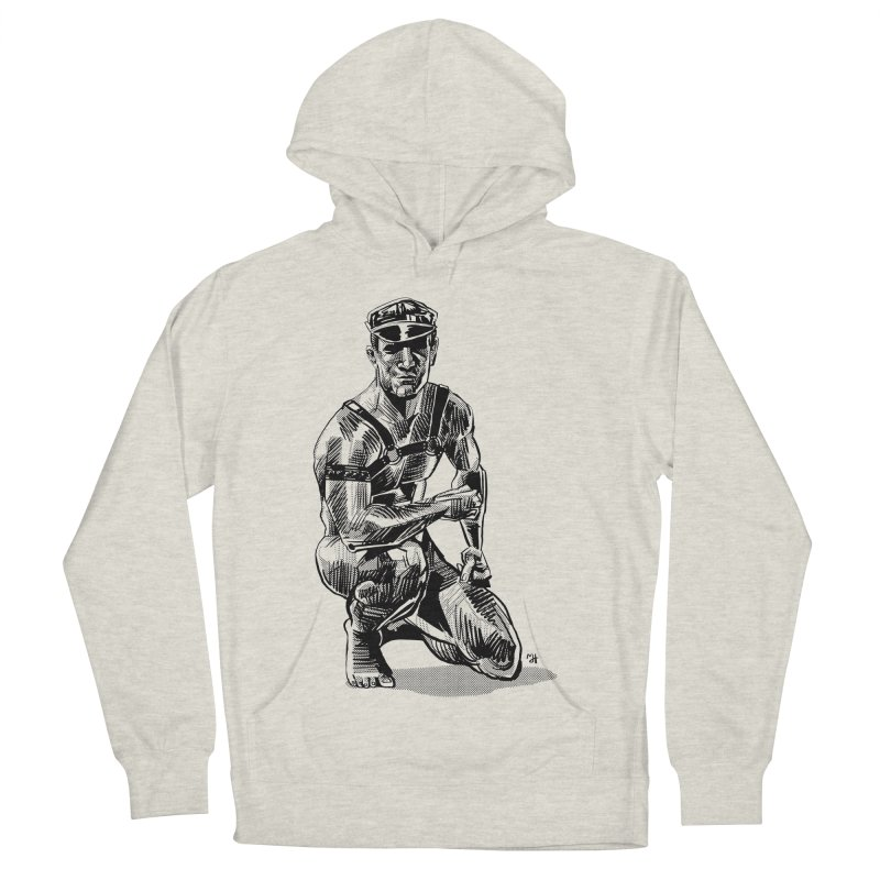 DrawingPride No.8: Leather Women's French Terry Pullover Hoody by Michael J Hildebrand's Artist Shop