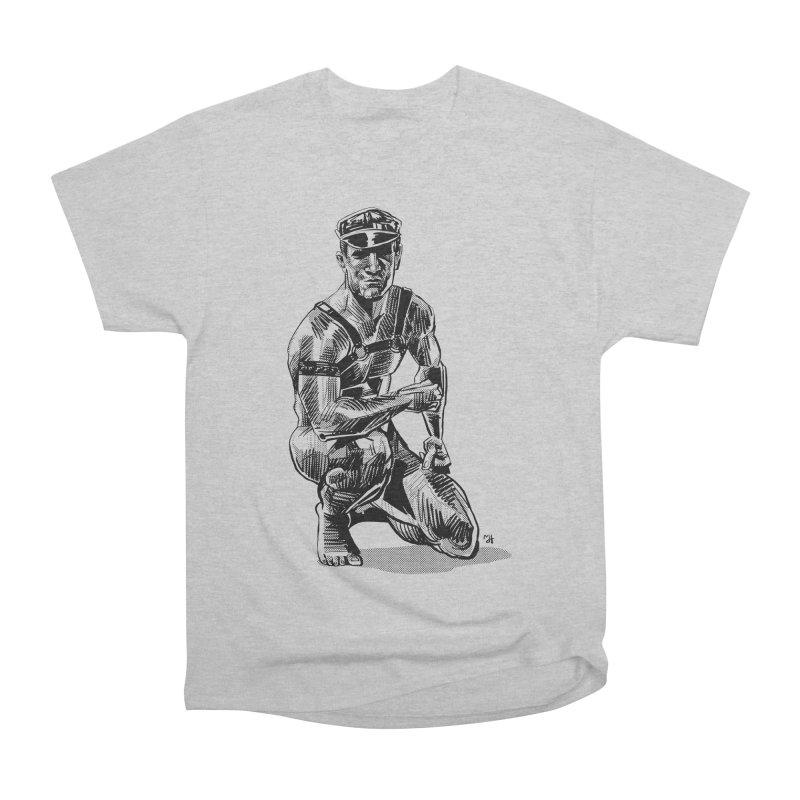 DrawingPride No.8: Leather Men's Heavyweight T-Shirt by Michael J Hildebrand's Artist Shop