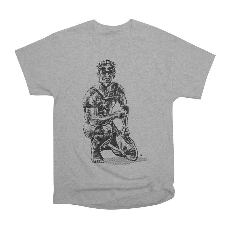 DrawingPride No.8: Leather Men's Heavyweight T-Shirt by michaeljhildebrand's Artist Shop
