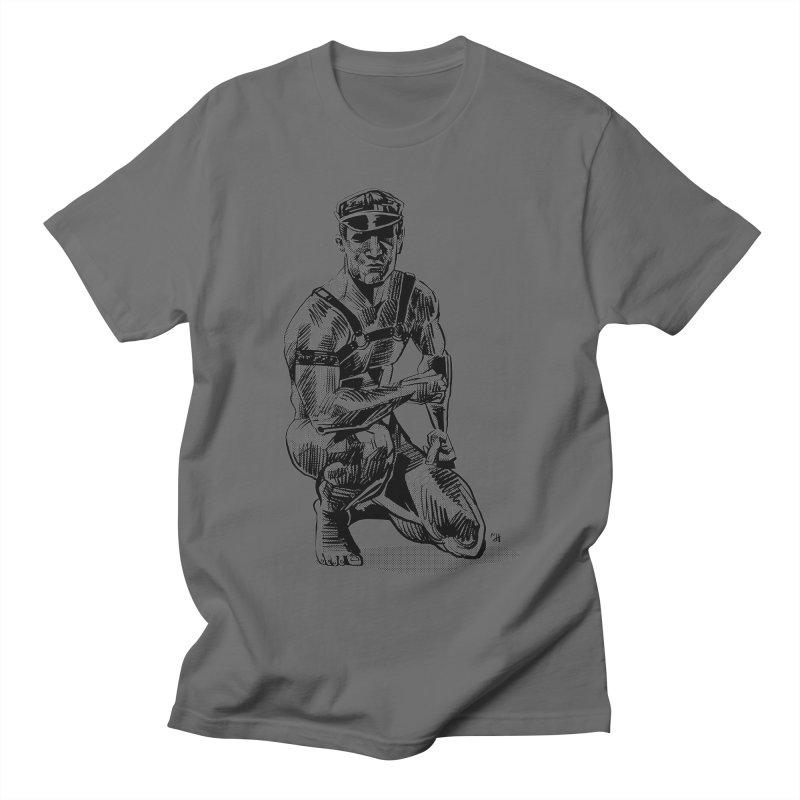 DrawingPride No.8: Leather Men's Regular T-Shirt by Michael J Hildebrand's Artist Shop