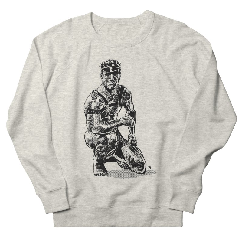 DrawingPride No.8: Leather Men's French Terry Sweatshirt by Michael J Hildebrand's Artist Shop