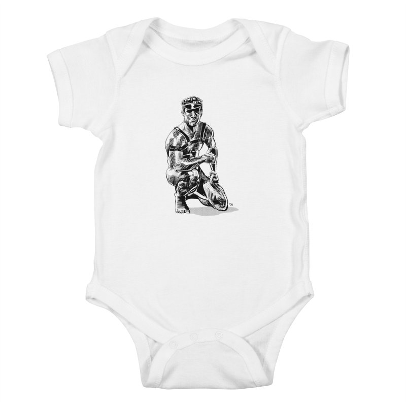 DrawingPride No.8: Leather Kids Baby Bodysuit by michaeljhildebrand's Artist Shop