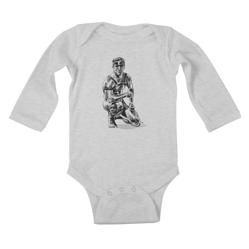 DrawingPride No.8: Leather Kids Baby Longsleeve Bodysuit by Michael J Hildebrand's Artist Shop