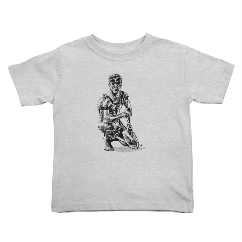 DrawingPride No.8: Leather Kids Toddler T-Shirt by Michael J Hildebrand's Artist Shop