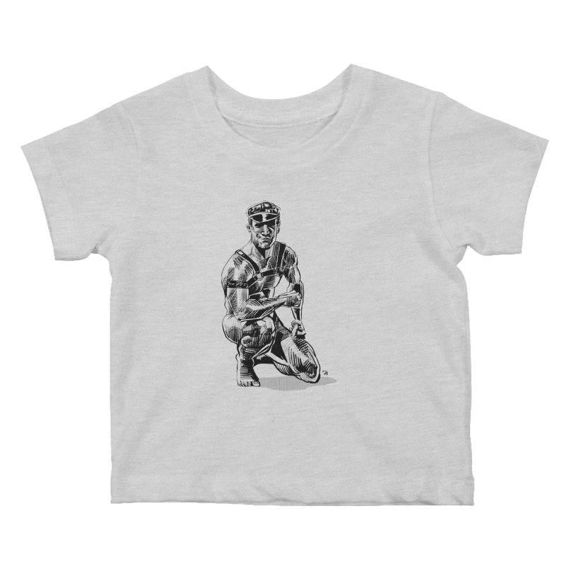 DrawingPride No.8: Leather Kids Baby T-Shirt by Michael J Hildebrand's Artist Shop