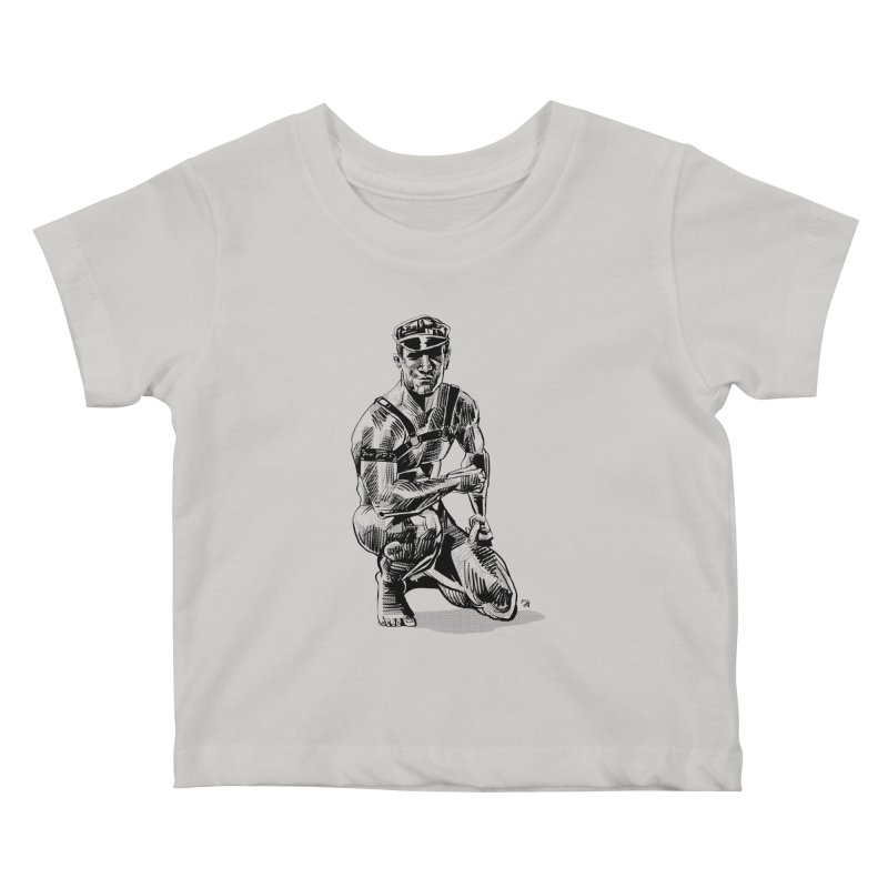 DrawingPride No.8: Leather Kids Baby T-Shirt by michaeljhildebrand's Artist Shop