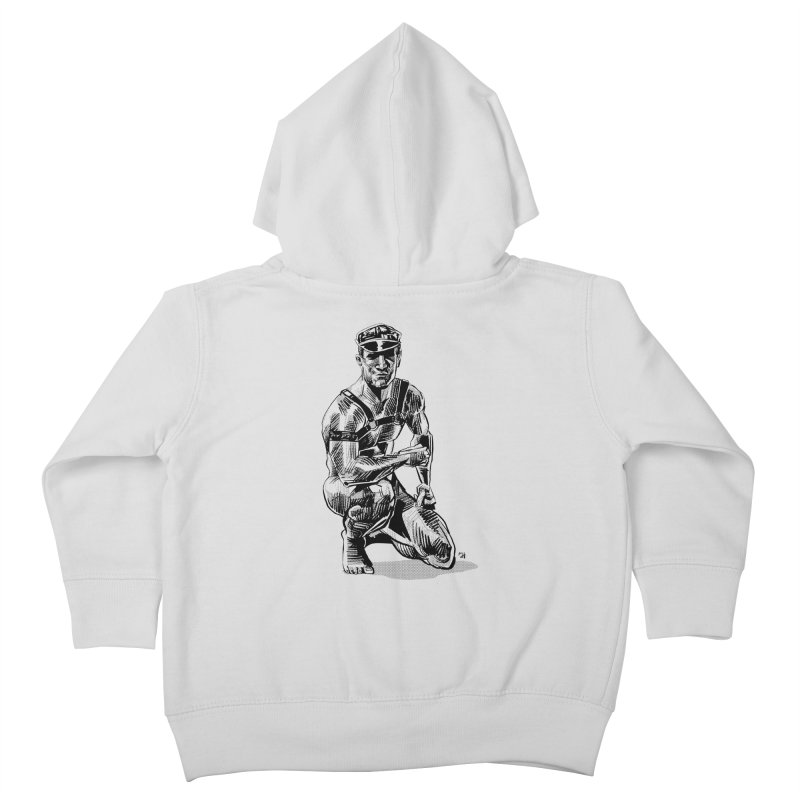 DrawingPride No.8: Leather Kids Toddler Zip-Up Hoody by michaeljhildebrand's Artist Shop
