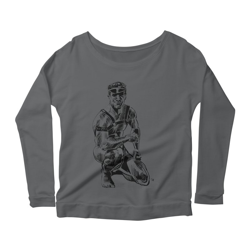DrawingPride No.8: Leather Women's Scoop Neck Longsleeve T-Shirt by Michael J Hildebrand's Artist Shop