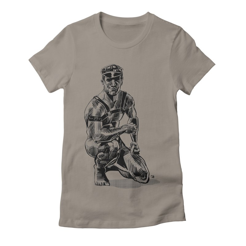 DrawingPride No.8: Leather Women's Fitted T-Shirt by Michael J Hildebrand's Artist Shop