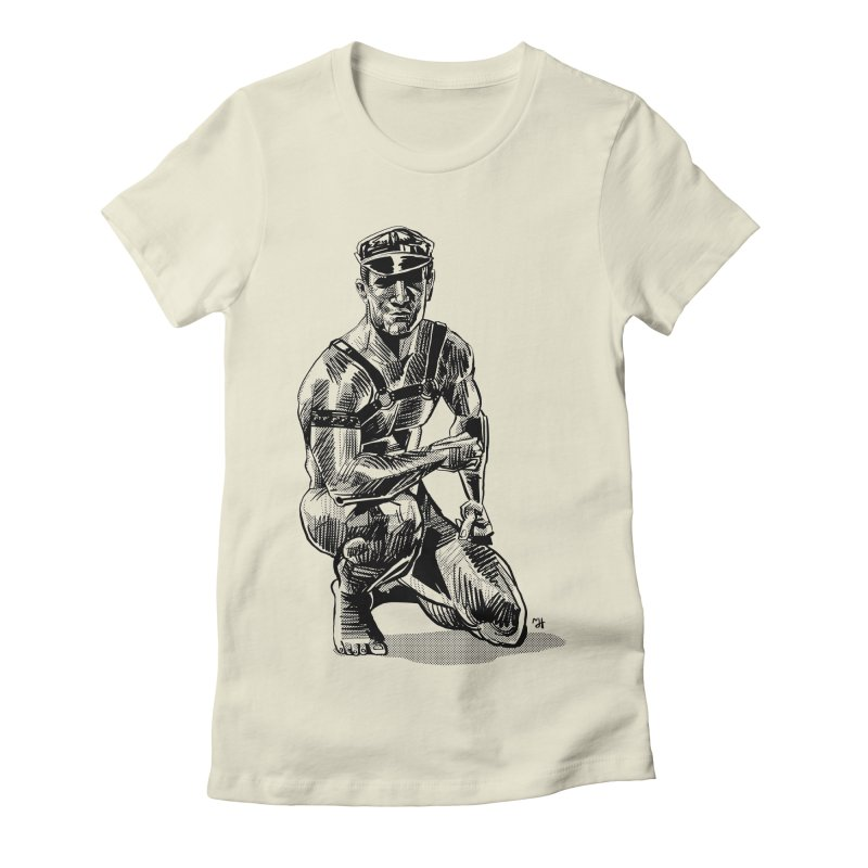 DrawingPride No.8: Leather Women's Fitted T-Shirt by michaeljhildebrand's Artist Shop