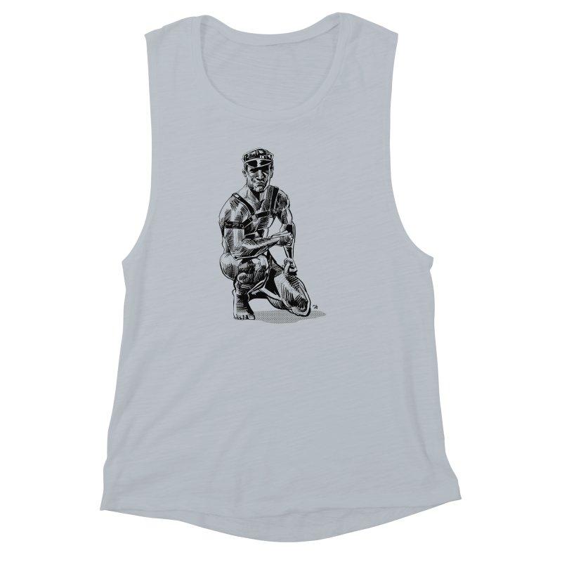 DrawingPride No.8: Leather Women's Muscle Tank by Michael J Hildebrand's Artist Shop