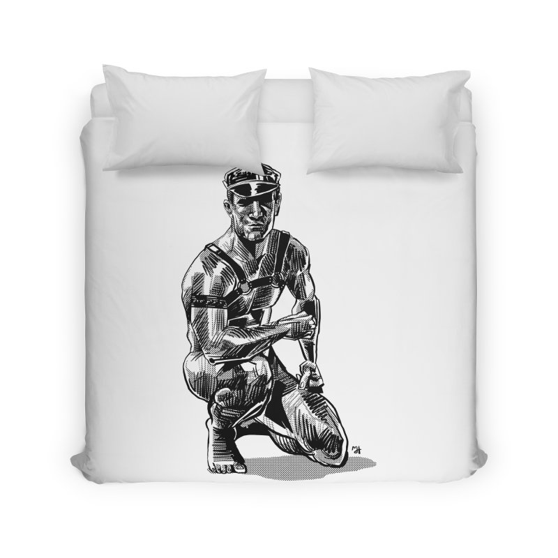 DrawingPride No.8: Leather Home Duvet by michaeljhildebrand's Artist Shop