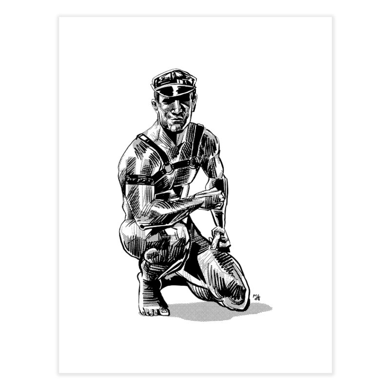DrawingPride No.8: Leather Home Fine Art Print by Michael J Hildebrand's Artist Shop
