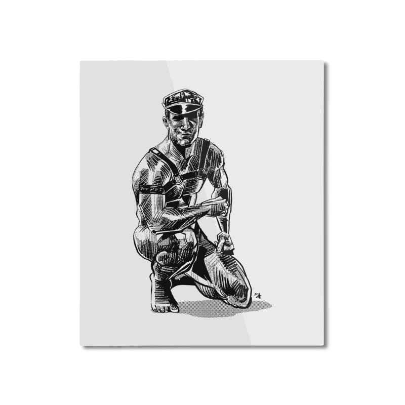 DrawingPride No.8: Leather Home Mounted Aluminum Print by Michael J Hildebrand's Artist Shop