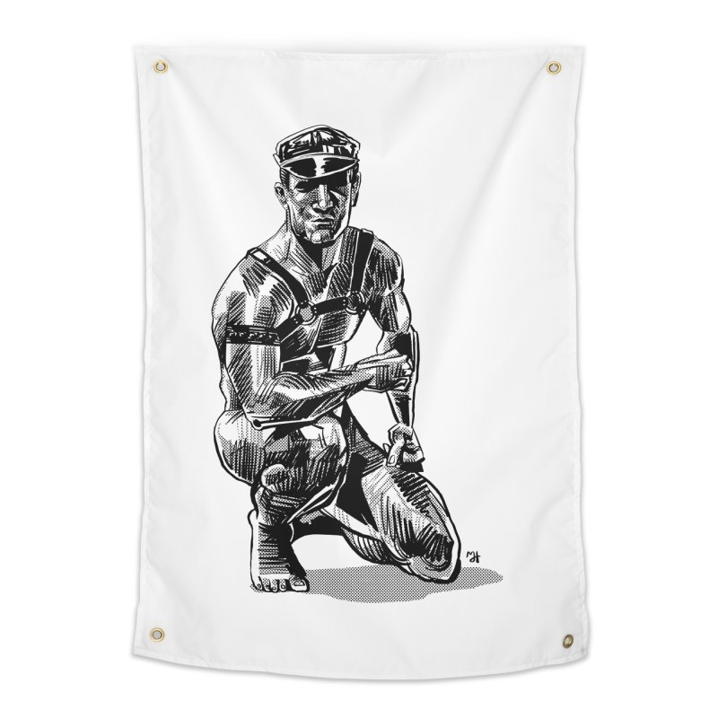 DrawingPride No.8: Leather Home Tapestry by Michael J Hildebrand's Artist Shop