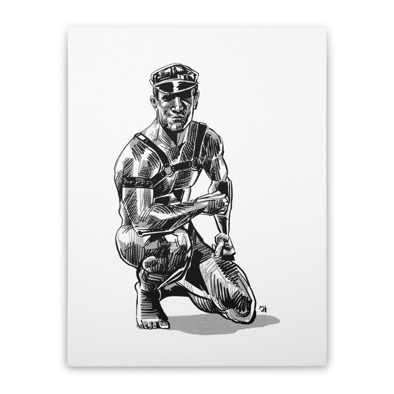 DrawingPride No.8: Leather Home Stretched Canvas by michaeljhildebrand's Artist Shop